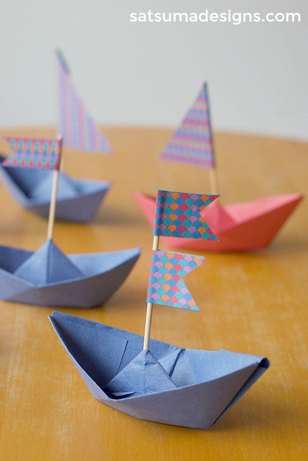How To Fold A Paper Boat Paper Boat Garland Satsuma Designs