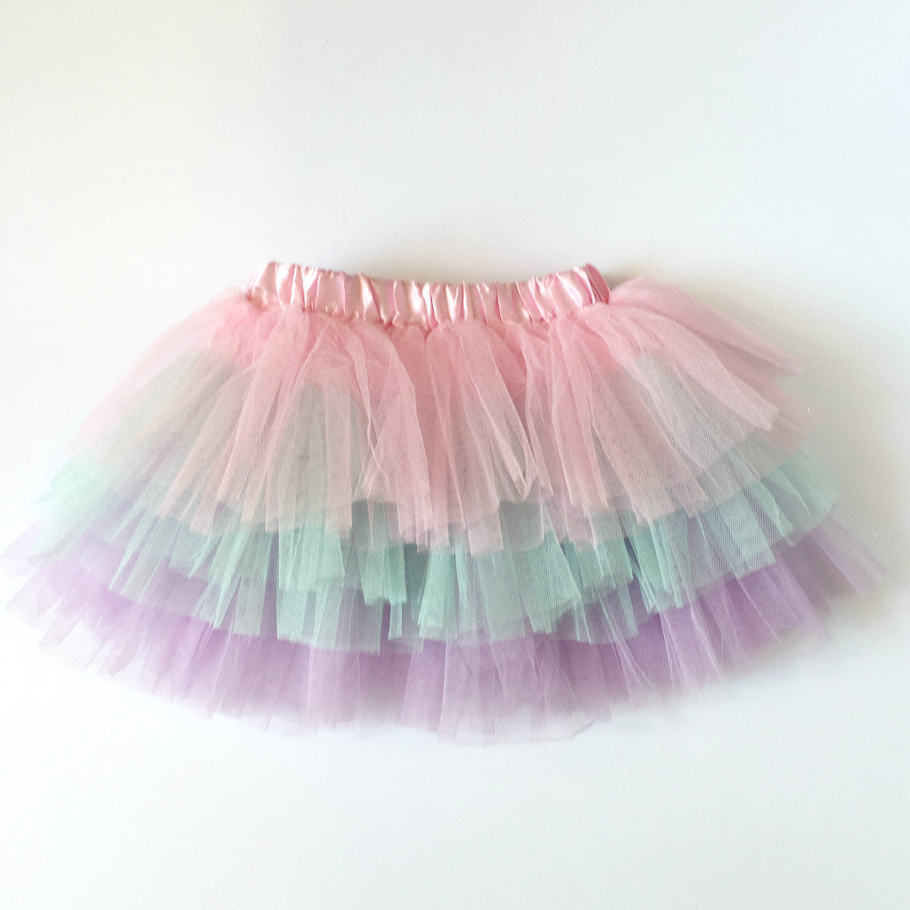 pink pastel three tier tutu