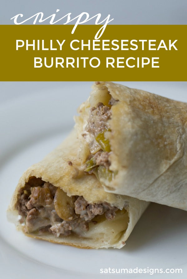 Philly cheesesteak burrito recipe for a quick and delicious weeknight meal. This easy recipe combines all the savory flavors of a philly cheesesteak with very affordable ingredients and the convenience of a burrito wrap! #philly #phillycheesesteak #dinner #whatsfordinner #burritorecipes #dinnerrecipes #savory #salty