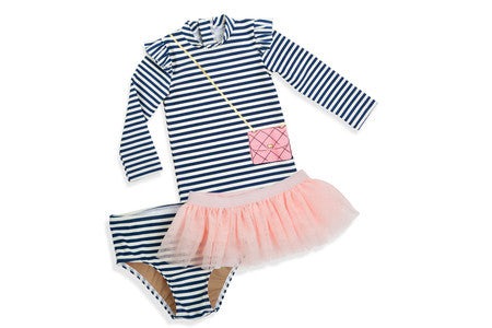 Dress Up Dance Swim Suit - 3 piece toddler swimsuit