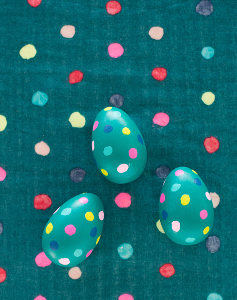 jewel tone polka dot easter eggs