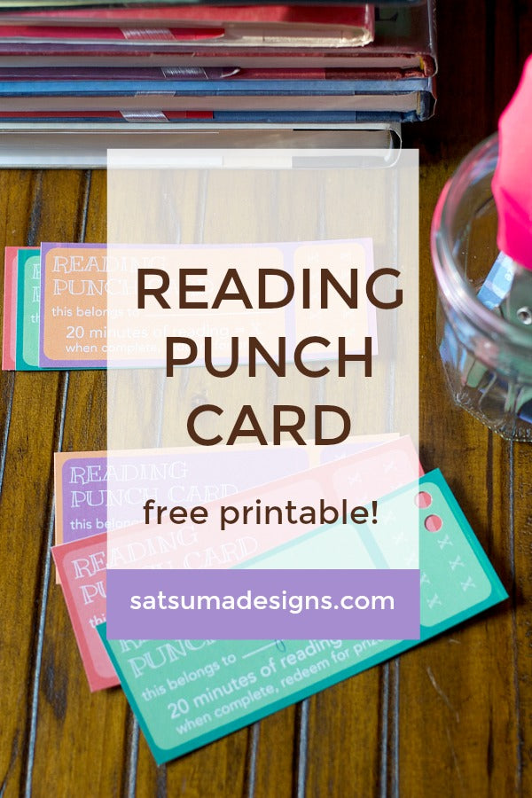 photo about Printable Punch Card named Studying Punch Card Printable Satsuma Layouts
