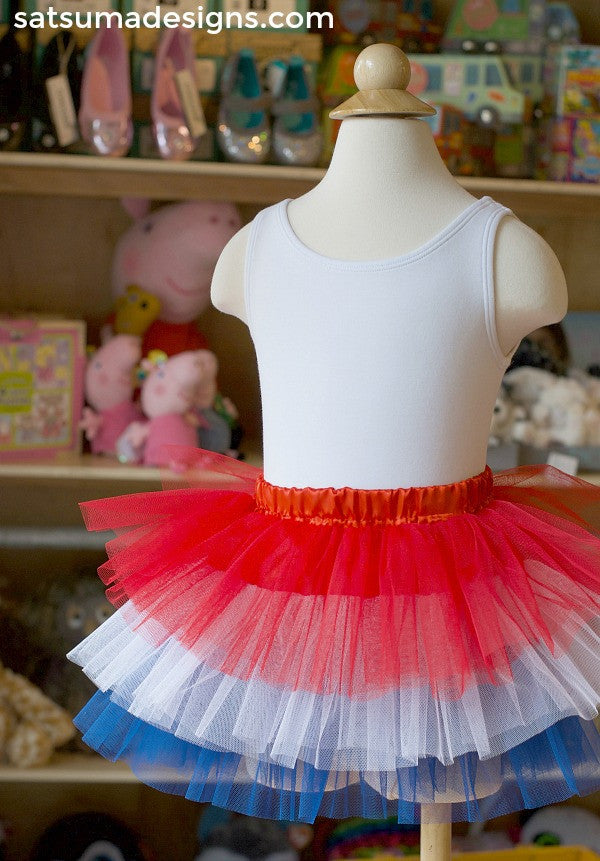 red white and blue tutu for girls