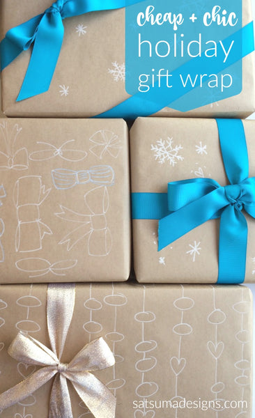Easy holiday gift wrap
