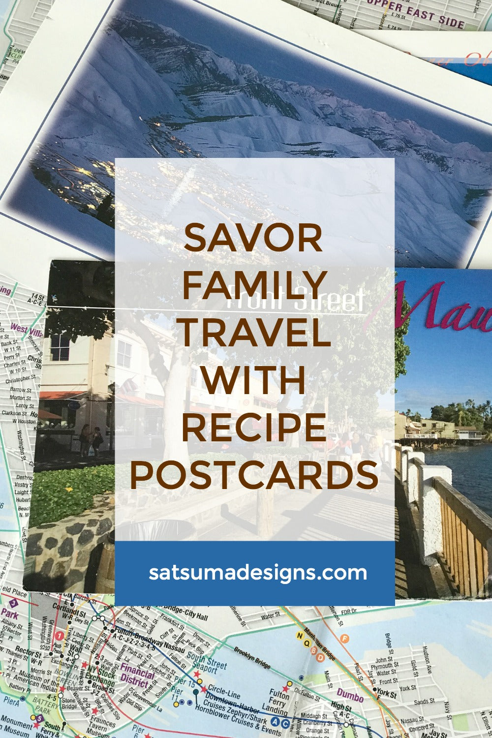 savor family travel with recipe postcards | #travelhack #familytravel #recipes #recipehack #satsuma