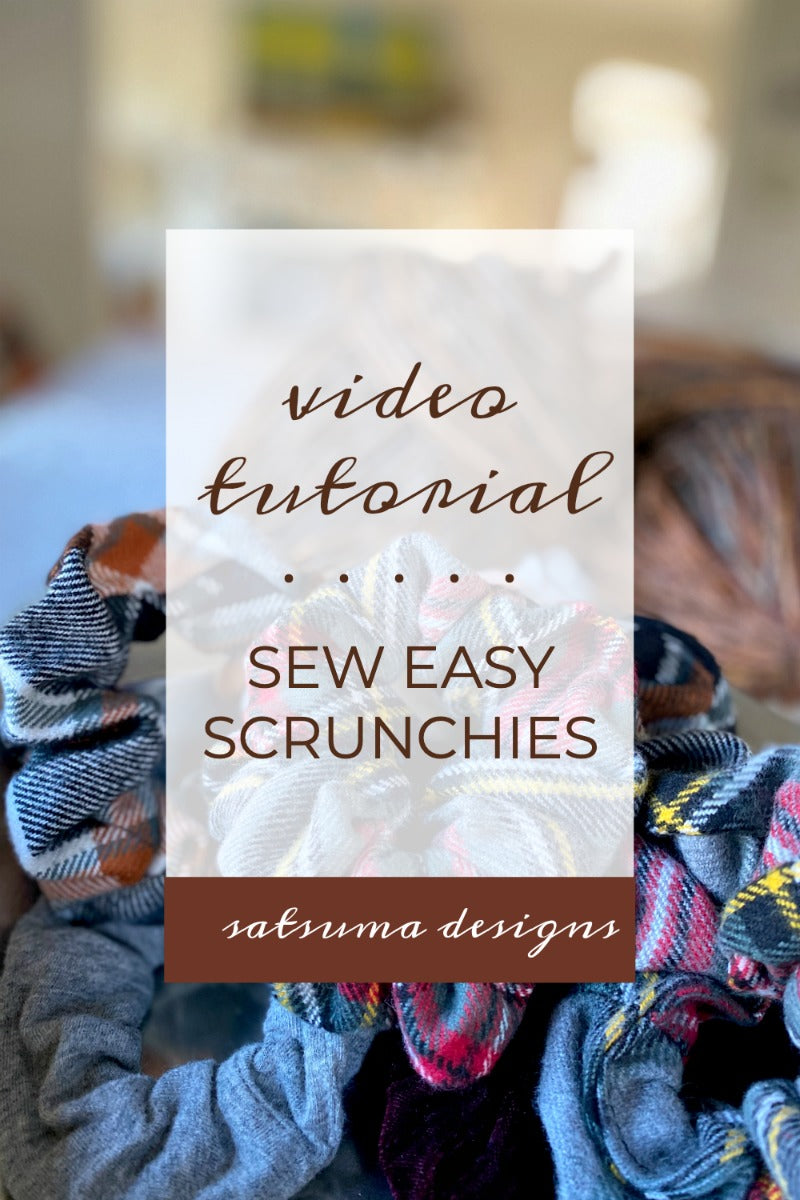 Sew easy scrunchies with video tutorial for beginning sewers. This is a great beginner sewing project that takes just minutes to prepare and complete. #easysewing #sew #sewer #sewingteacher #sewingtutorial #scrunchie #scrunchies #hairflair #hairaccessory #hairaccessories