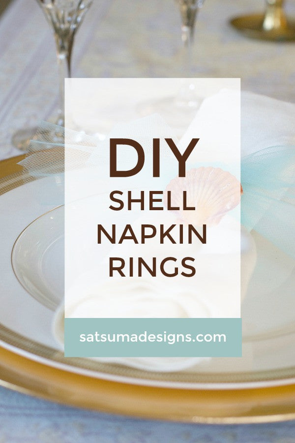 diy shell napkin rings