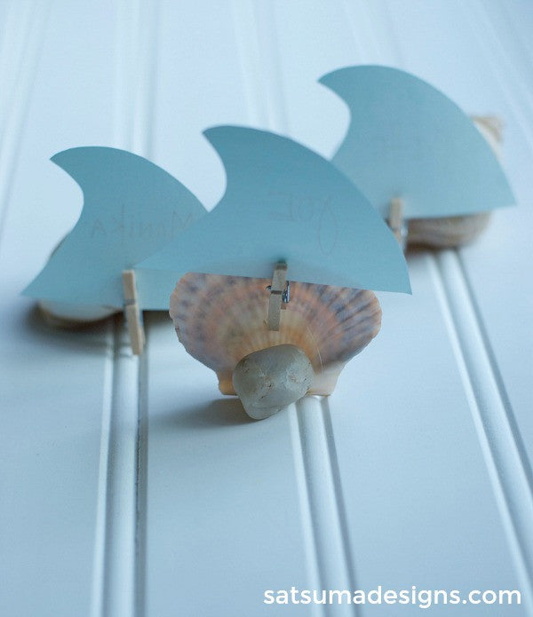 diy sea shell place cards