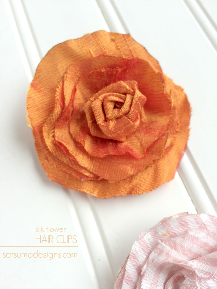 Silk flower hair clips satsuma designs did you create your own springtime hair flair share your creations by tagging satsumasmiles enjoy mightylinksfo