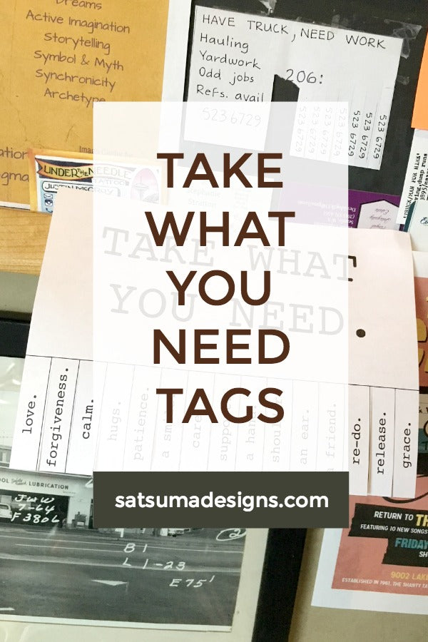 image relating to Take What You Need Printable identify Acquire What On your own Will need Tags Satsuma Ideas