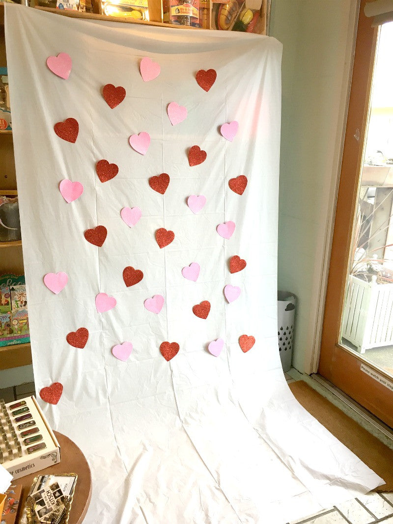 valentine photo backdrop