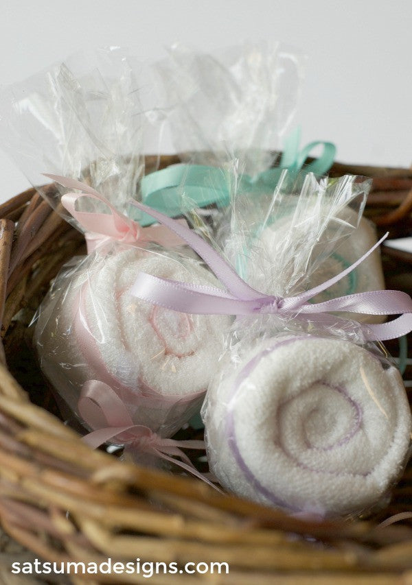 washcloth candy favors