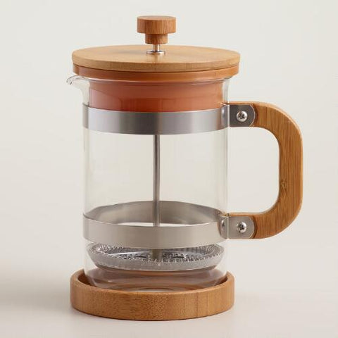 wooden french coffee press