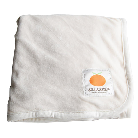 Soft bamboo velour baby receiving blanket