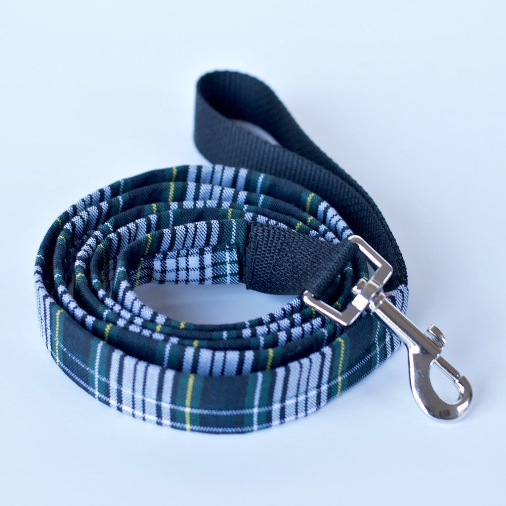 Five Foot Plaid Dog Leash | 5' Dog Leash