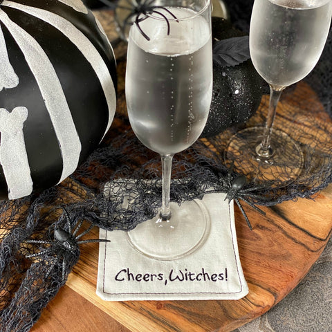 Cheers, Witches! Linen Coasters