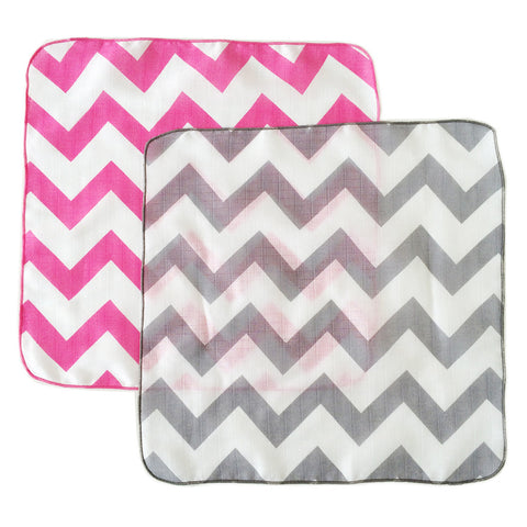 Chevron Muslin Washcloths - 3 pack