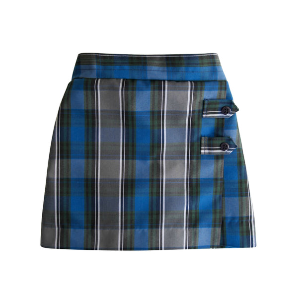 Two tab school uniform plaid skort made in Seattle