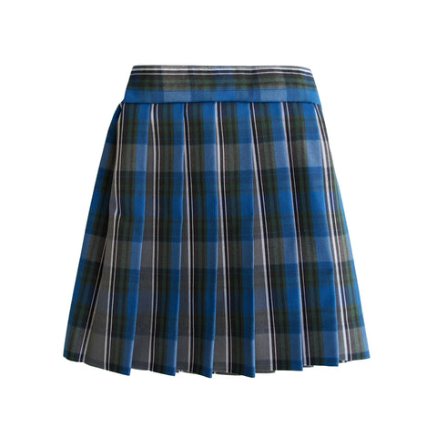 Custom sized knife pleated skirt in school plaid