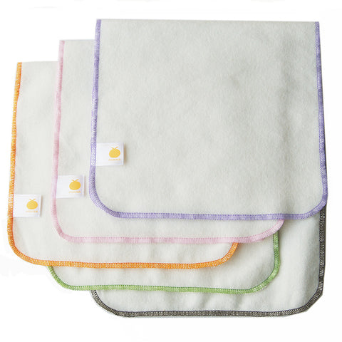 Bamboo Flannel Burp Cloths - 5 pack