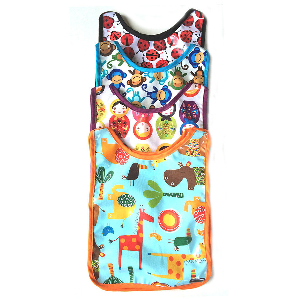 Kids Art Smock in waterproof laminated cotton that's easy to clean