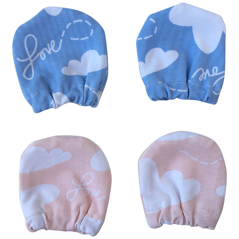 Baby and preemie scratch mittens that stay on