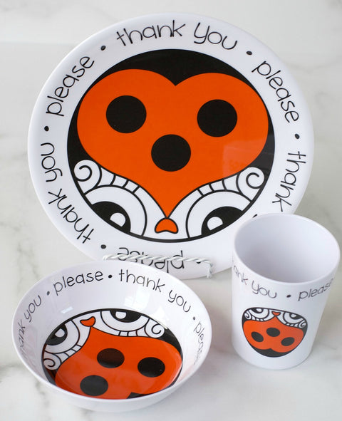 Melamine kids dishware with good manners sayings