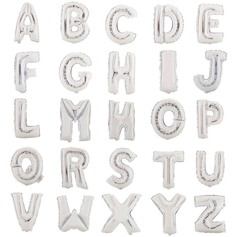 "Foil Letter Balloons | 14"" Flat (no helium) 
