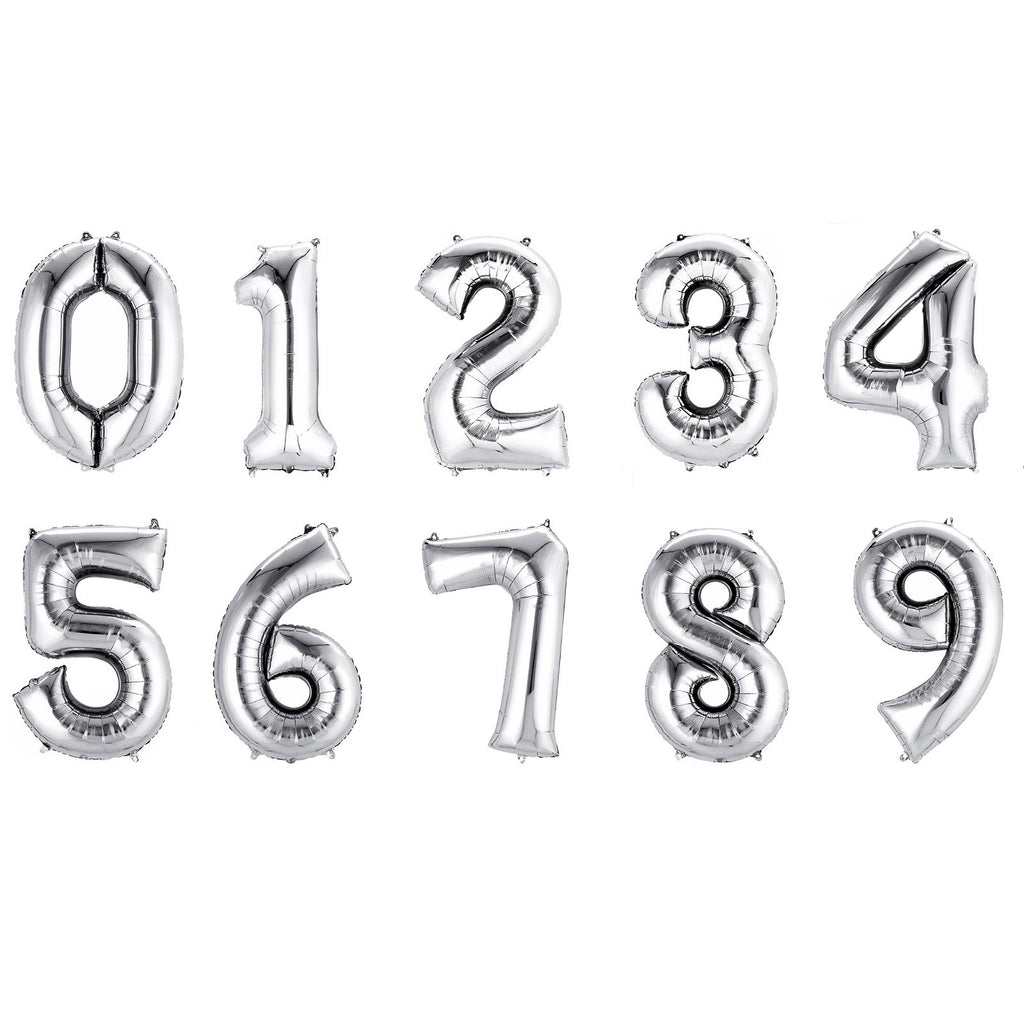"Jumbo Foil Number Balloons | 34"" Flat (no helium) 