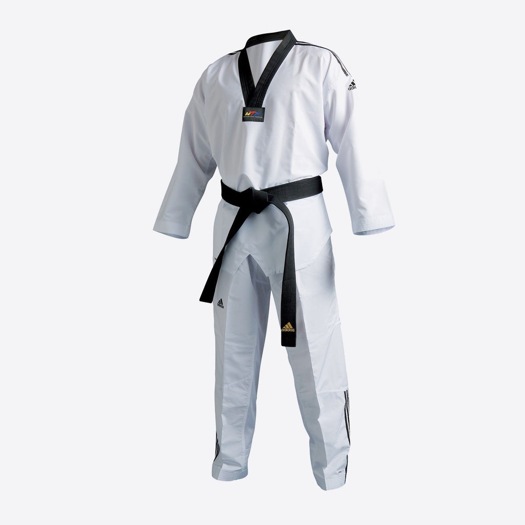 adidas Taekwondo Fighter Dobok (with Stripes) - WTF Approved
