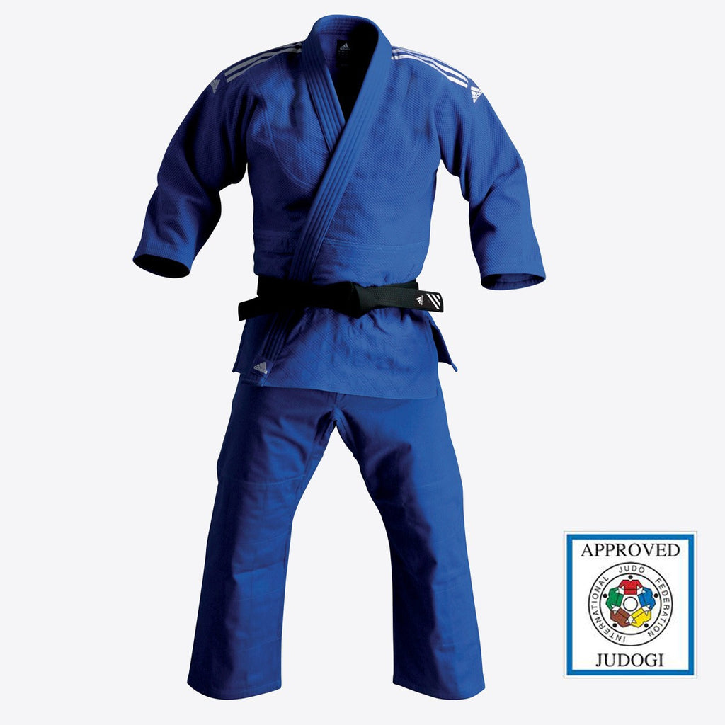 adidas Judo Champion Gi (27oz) - Blue- IJF Approved
