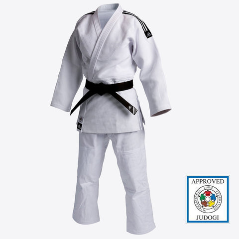 adidas Judo Champion Gi (27oz) - White - IJF Approved