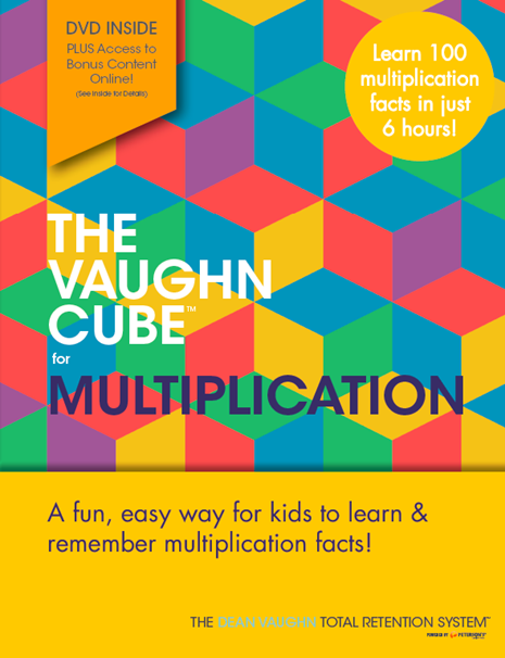 The Vaughn Cube For Multiplication Dean Vaughn Total Retention