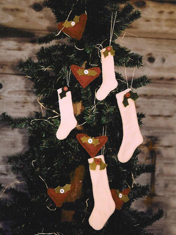 Holly & Hearts Ornaments