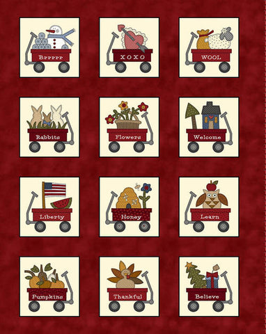 My Red Wagon / Calendar Panel