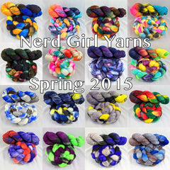 Nerd Girl Yarns Spring 2015 Colorways