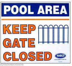 KEEP GATE CLOSED SIGN PVC