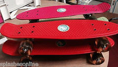 NEW NEON RETRO CLASSIC MINI SKATEBOARDS - RED, PINK OR GREEN