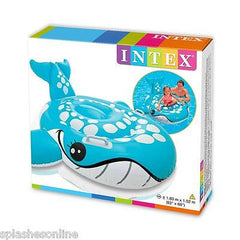 INTEX BASHFUL BLUE WHALE RIDE ON