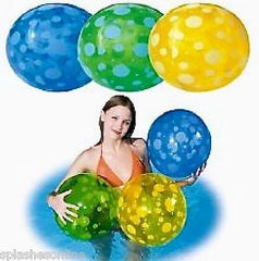 "SPOTTED BEACH BALLS 51CM (20"") AVAIL IN GREEN, YELLOW OR BLUE"