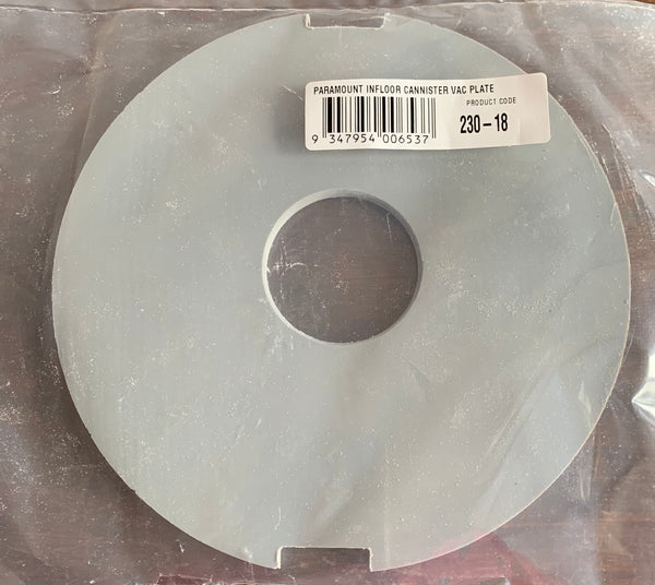 #230-18 PARAMOUNT INFLOOR CLEANING CANISTER VACUUM PLATE