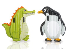 INTEX ANIMAL RIDERS FUN FLOAT - FRIENDLY ALLIGATOR OR POLAR PENGUIN - AGES 6+