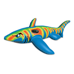 AQUAFUN TIGER SHARK JUMBO POOL RIDE ON 180CM LONG