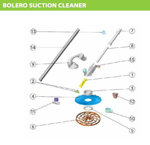 ASTRAL HURLCON BOLERO SUCTION CLEANER SPARE PARTS