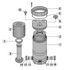 DAVEY CLEARFLOW CARTRIDGE FILTER SPARE PARTS
