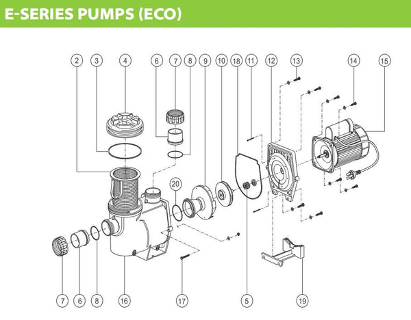 ASTRAL HURLCON E-SERIES (ECO) PUMP SPARE PARTS