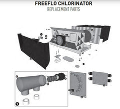 PENTAIR FREEFLO SALT CHLORINATOR SPARE PARTS