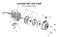ONGA LEISURETIME LTP AGP POOL PUMP SPARE PARTS (LTP400A, LTP550A, LTP750A)
