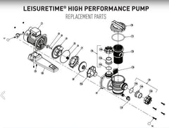 ONGA LEISURETIME LTP POOL PUMP SPARE PARTS (LTP400, LTP550, LTP750, LTP1100)