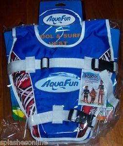 AQUAFUN POOL & SURF VEST AGES 2-3 BLUE ONLY